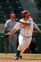 March 7 2010: Ricky Oropesa of USC during game against University of New Mexico at Dedeaux Field in Los Angeles,CA.  Photo by Larry Goren/Four Seam Images