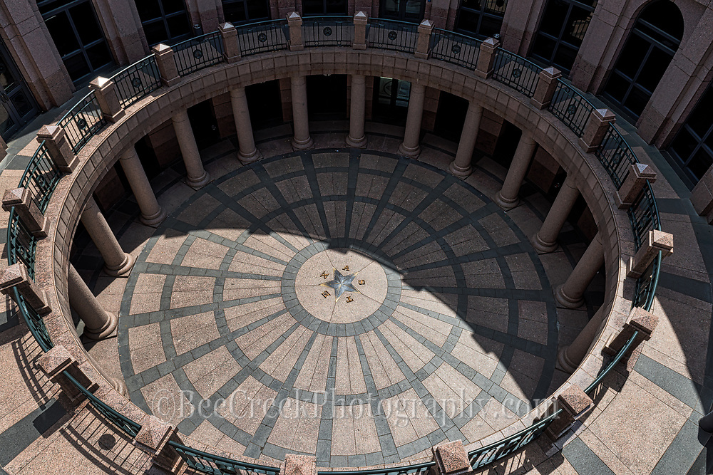 A image of the outside Capital rotunda from above ground giving you an ideal of how many levels the capital is underground.