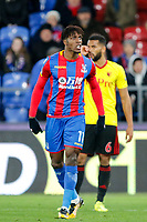 Wilfried Zaha of Crystal Palace during the Premier League match between Crystal Palace and Watford at Selhurst Park, London, England on 13 December 2017. Photo by Carlton Myrie / PRiME Media Images.