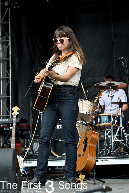 Alynda Lee Segarra of Hurray for Riff Raff performs during the Forecastle Music Festival at Waterfront Park in Louisville, Kentucky.