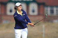 Marina Alex (USA) on the 2nd fairway during Round 3 of the Ricoh Women's British Open at Royal Lytham &amp; St. Annes on Saturday 4th August 2018.<br /> Picture:  Thos Caffrey / Golffile<br /> <br /> All photo usage must carry mandatory copyright credit (&copy; Golffile | Thos Caffrey)