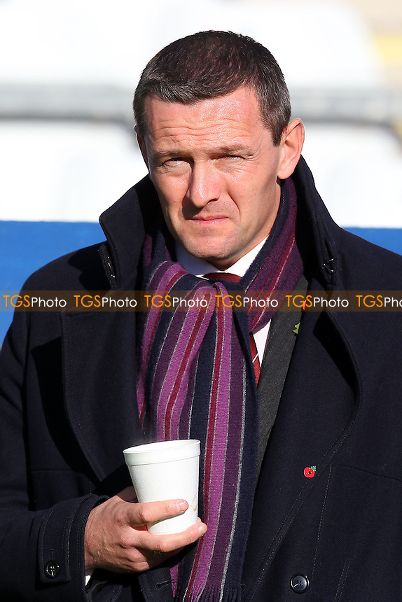 Northampton Town manager Aidy Boothroyd is seen ahead of kick-off - Bishop's Stortford vs Northampton Town - FA Challenge Cup 1st Round Proper Round Football at the Profit UK Stadium, Bishop's Stortford - 10/11/13 - MANDATORY CREDIT: Gavin Ellis/TGSPHOTO - Self billing applies where appropriate - 0845 094 6026 - contact@tgsphoto.co.uk - NO UNPAID USE