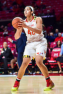 College Park, MD - NOV 16, 2016: Maryland Terrapins center Brionna Jones (42) in action during game between Maryland and Maryland Eastern Shore Lady Hawks at XFINITY Center in College Park, MD. The Terps defeated the Lady Hawks 106-61. (Photo by Phil Peters/Media Images International)