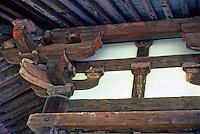 Nara: Brackets, eaves--Sangatsu Hall, 729 A.D. PHoto '81.