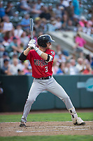 Billings Mustangs first baseman Jay Schuyler (36) at bat during a Pioneer League game against the Ogden Raptors at Lindquist Field on August 17, 2018 in Ogden, Utah. The Billings Mustangs defeated the Ogden Raptors by a score of 6-3. (Zachary Lucy/Four Seam Images)