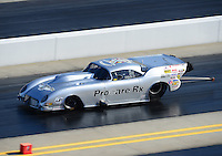 Apr. 13, 2012; Concord, NC, USA: NHRA pro mod driver Brad Brand during qualifying for the Four Wide Nationals at zMax Dragway. Mandatory Credit: Mark J. Rebilas-