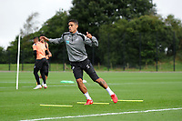 Kyle Naughton of Swansea City in action during the Swansea City Training Session at The Fairwood Training Ground, Wales, UK. Tuesday 11th September 2018