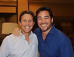 Another World and Charmed Brian Krause poses with Superman Dean Cain at Chiller Theatre's Spring Spooktacular on the weekend of April 27-29 at the Hilton Parsippany in Parsippany, New Jersey. (Photo by Sue Coflin/Max Photos)