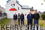 Cahersiveen recognises Monsignor Hugh O'Flaherty who is buried in the grounds of the O'Connell Memorial Church, Cahersiveen, pictured here front l-r; Hugh O'Flaherty, Daragh O'Driscoll(Chairman Cahersiveen Tidy Towns), back l-r; Michael Prendergast, Viktorija Vilcauskyte(artist), Kieran McCarthy(ACARD) & Mary McCarthy.