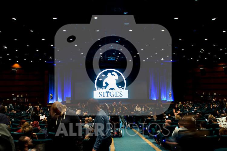 Spectators coming in to the cinema at Festival de Cine Fantastico de Sitges in Barcelona. October 11, Spain. 2016. (ALTERPHOTOS/BorjaB.Hojas)