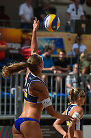 VADUZ, LIECHTENSTEIN, 10.08.2019- FIVB BEACH VOLLEYBALL WORLD TOUR: Katja Stam da Holanda durante a partida das quartas de final a contar para o torneio FIVB Beach Volleyball World Tour Star1 na Beacharena, em Vaduz, Liechtenstein, nesse sabado 10. (Foto: Bruno de Carvalho / Brazil Photo Press)