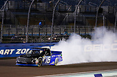 #16: Brett Moffitt, Hattori Racing Enterprises, Toyota Tundra AISIN Group celebrates