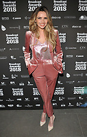Nadine Coyle at the Broadcast Awards 2018, Grosvenor House Hotel, Park Lane, London, England, UK, on Wednesday 07 February 2018.<br /> CAP/CAN<br /> &copy;CAN/Capital Pictures