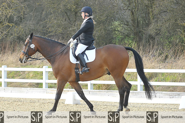 Class 6. British Dressage. Brook Farm Training Centre. Essex. 12/03/2016. MANDATORY Credit Ellie Ingram/Sportinpictures - NO UNAUTHORISED USE - 07837 394578