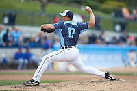 West Michigan Whitecaps relief pitcher Brandyn Sittinger (17) in action against the South Bend Cubs at Fifth Third Ballpark on June 10, 2018 in Comstock Park, Michigan. The Cubs defeated the Whitecaps 5-4.  (Brian Westerholt/Four Seam Images)