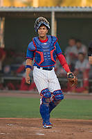 AZL Cubs 2 catcher Henderson Perez (8) during an Arizona League game against the AZL Reds at Sloan Park on June 18, 2018 in Mesa, Arizona. AZL Cubs 2 defeated the AZL Reds 4-3. (Zachary Lucy/Four Seam Images)