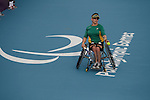 Australia's Daniela Di Toro cruises thrugh the first round of the Wheelchair Tennis at the London Paralympic Games  soundly defeating Angelica Bernal Villalobos (Colombia) in straight sets. 1.9.12