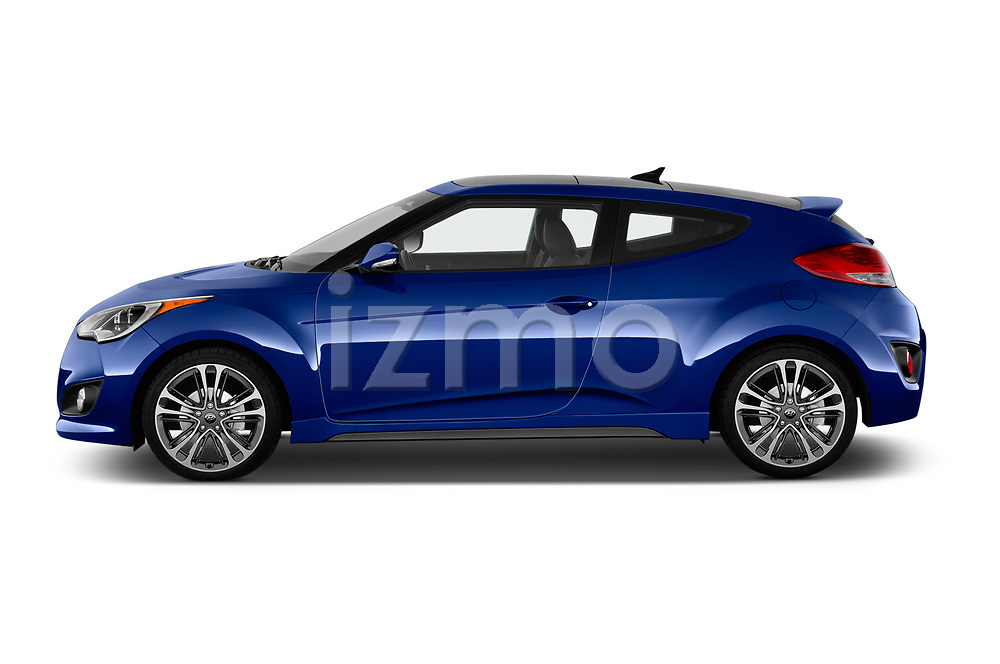 Car Driver side profile view of a 2017 Hyundai Veloster Turbo-Manual 5 Door Hatchback Side View