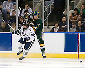 Sean Backman (Yale - 16), Kevan Miller (Vermont - 15) - The University of Vermont Catamounts defeated the Yale University Bulldogs 4-1 in their NCAA East Regional Semi-Final match on Friday, March 27, 2009, at the Bridgeport Arena at Harbor Yard in Bridgeport, Connecticut.