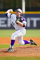 High Point Panthers starting pitcher Ryan Retz (34) in action against the Ohio Bobcats at Willard Stadium on March 6, 2013 in High Point, North Carolina.  The Panthers defeated the Bobcats 4-1.  (Brian Westerholt/Four Seam Images)