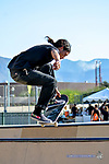 Skaters perform tricks and jumps at the Skate Park at the 2017 Neon Desert Muisc Festival, May 27, 2017 in El Paso Texas