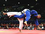 Olympic Games 2012; Judo - ExCel North Arena 2; men's 73kg. Nyam-Ochir Sainjargal (MGL) vs. Christopher Voelk (GER)