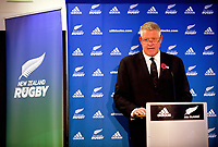 NZ Rugby chief executive Steve Tew. The 2017 New Zealand Rugby Union Annual General Meeting at the New Zealand Rugby Union Head Office in Wellington, New Zealand on Thursday, 27 April 2017. Photo: Dave Lintott / lintottphoto.co.nz