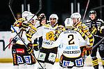 Stockholm 2013-12-07 Ishockey Elitserien AIK - Skellefte&aring; AIK :  <br /> Skellefte&aring;s Joakim Lindstr&ouml;m har gjort 1-0 och gratuleras av lagkamrater Jimmie Ericsson  , Pierre-Edouard Bellemare (mitten) ,  Erik Andersson och Jonas Fr&ouml;gren <br /> (Foto: Kenta J&ouml;nsson) Nyckelord:  AIK Skellefte&aring; SAIK jubel gl&auml;dje lycka glad happy