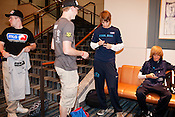 August 29, 2010. Raleigh, North Carolina.. Members of tam Final Boss signed autographs after winning the $20,000 Halo 3 pro purse.. Major League Gaming (MLG), the league for professional videogame players, held their 50th Pro Circuit competition at the Raleigh Convention Center, with gamers from all over the country coming to for 3 days of competition in Halo 3, Tekken 6, Super Smash Bros. Brawl, Starcraft 2 and World of Warcraft.