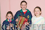 MUSICAL FAMILY: Fiona, Mairead and Helen Scannell, Knocknaskeha, Killarney having a great time at the Sult na nOg at Tralee IT on Saturday.