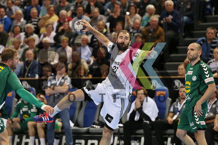 Kiel, 20.05.15, Sport, Handball, DKB Handball Bundesliga, Saison 2014/2015, THW Kiel - GWD Minden : Joan Ca&ntilde;ellas (THW Kiel, #21)<br /> <br /> Foto &copy; P-I-X.org *** Foto ist honorarpflichtig! *** Auf Anfrage in hoeherer Qualitaet/Aufloesung. Belegexemplar erbeten. Veroeffentlichung ausschliesslich fuer journalistisch-publizistische Zwecke. For editorial use only.