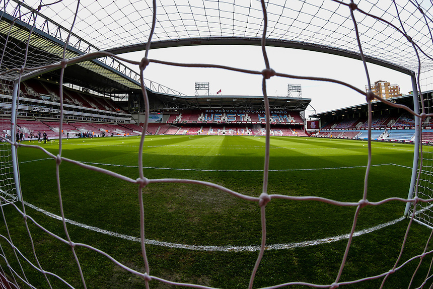 A general view of Boleyn Ground, home of West Ham United<br /> <br /> Photographer Craig Mercer/CameraSport<br /> <br /> Football - Barclays Premiership - West Ham United v Burnley - Saturday 2nd May 2015 - Boleyn Ground - London<br /> <br /> &copy; CameraSport - 43 Linden Ave. Countesthorpe. Leicester. England. LE8 5PG - Tel: +44 (0) 116 277 4147 - admin@camerasport.com - www.camerasport.com
