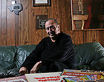".Tony ""Ham"" Guerrero of the Tortilla Factory jazz group is nominated for a grammy this year despite needing a kidney transplant. Photographed at his home in Austin, Texas on February 2, 2009 ..Photo by Ben Sklar"