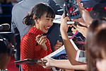 Japanese actress Shiori Kutsuna signs autographs for fans during the Japan Premiere for her film Deadpool 2 on May 29, 2018, Tokyo, Japan. The second installment of the Marvel hit movie will be released in Japan onJune 1st. (Photo by Rodrigo Reyes Marin/AFLO)