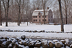 The Old Manse, home of authors Emerson & Hawthorn, in Concord, MA, USA