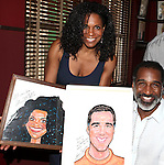 Audra McDonald, Norm Lewis.attending the celebration for Norm Lewis receiving a Caricature on Sardi's Hall of Fame in New York City on 5/30/2012