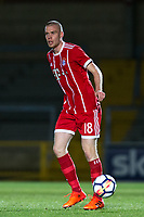 Thomas Isherwood of Bayern Munich II during the Premier League International Cup match between Reading U23 and Bayern Munich II at the Adams Park, Wycombe, England on 8 December 2017. Photo by Andy Rowland.
