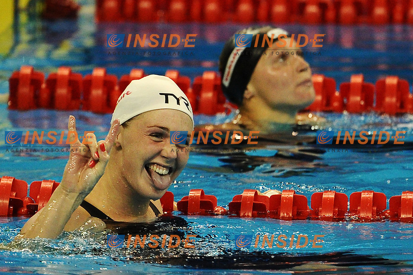 Jeanette OTTESEN Denmark and Aliaksandra HERASIMENIA Gold Medals.Women's 100m Freestyle - Swimming / Nuoto.Shanghai 29/7/2011 .14th FINA World Championships.Foto Andrea Staccioli Insidefoto