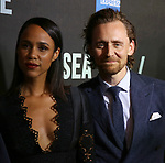 """Zawe Ashton and Tom Hiddleston attends the Broadway Opening Night performance of """"Sea Wall / A Life"""" at the Hudson Theatre on August 08, 2019 in New York City."""