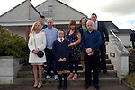 Lauren Bingham (front) with parents Christoopher and Lorraine and family members Niall McKenna, Kim McKenna, Ollie Williams, Marie Connolly and Christopher Bingham at her confirmation in the Star of the Sea Church, Mornington. Photo: www.newsfile.ie