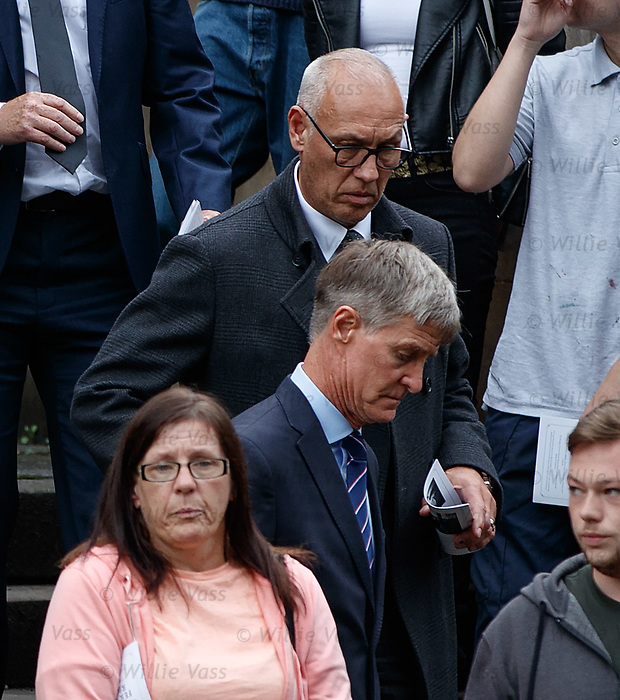 25.09.2018 Funeral service for Fernando Ricksen: Mark Hateley and Richard Gough