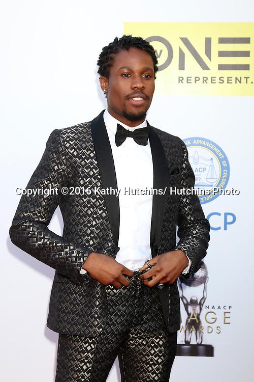 LOS ANGELES - FEB 5:  Shameik Moore at the 47TH NAACP Image Awards Arrivals at the Pasadena Civic Auditorium on February 5, 2016 in Pasadena, CA