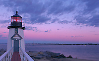 Brant Point lighthouse, Nantucket, MA evening
