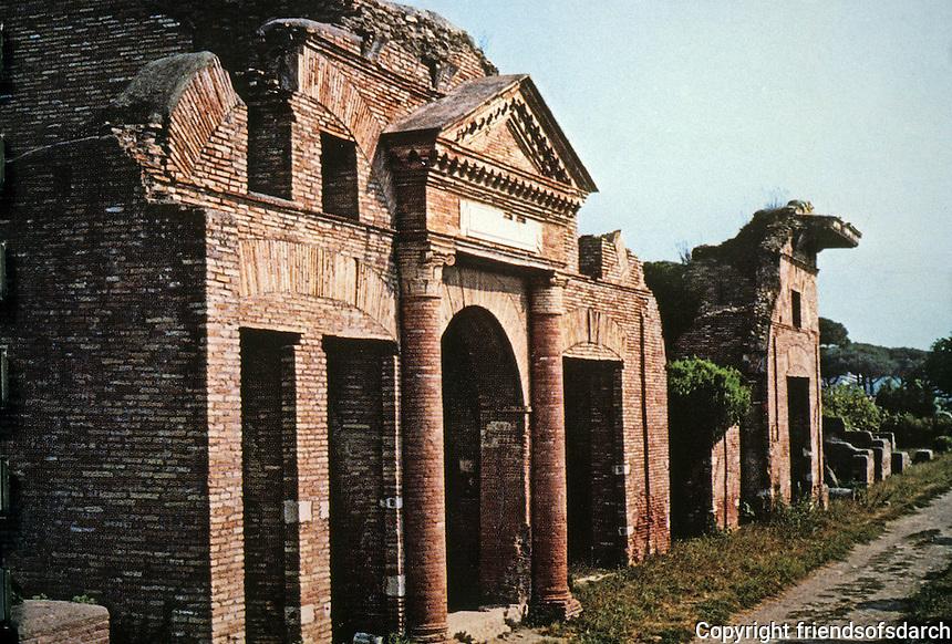 Italy: Ostia--Warehouse (Horrea). Epagathiana and Epaphroditiana, proprietors. Antonine Period, mid-2nd C. Photo '83.