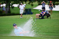 Russell Knox (IRL) hits from the trap on 4 during Friday's round 2 of the PGA Championship at the Quail Hollow Club in Charlotte, North Carolina. 8/11/2017.<br /> Picture: Golffile | Ken Murray<br /> <br /> <br /> All photo usage must carry mandatory copyright credit (&copy; Golffile | Ken Murray)