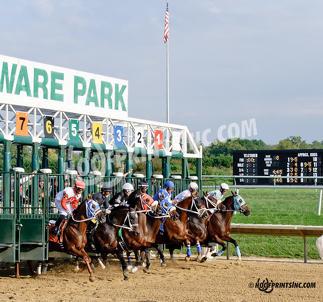 Tubal winning at Delaware Park on 9/18/14