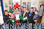 Listowel Family Resource Centre is organising a First Aid Paediatric course for parents of children under the age of four on Thursday October 23rd from 7pm to 9pm. Pictured were: Tommy and John Nolan, Susan McCarthy and Julie Flynn, Jean Allen Goggin, Denis Robinson from Listowel FRC, Paul and Leon O'Gormon and Katelyn Lynch and Anita Huges.
