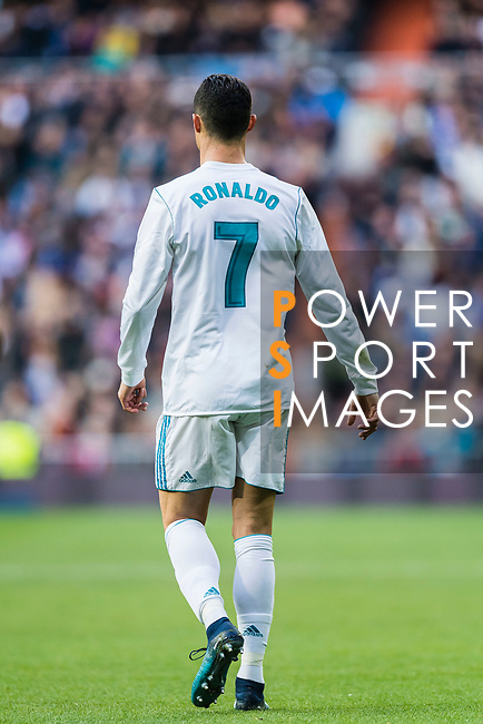 Cristiano Ronaldo of Real Madrid reacts during the La Liga 2017-18 match between Real Madrid and Sevilla FC at Santiago Bernabeu Stadium on 09 December 2017 in Madrid, Spain. Photo by Diego Souto / Power Sport Images