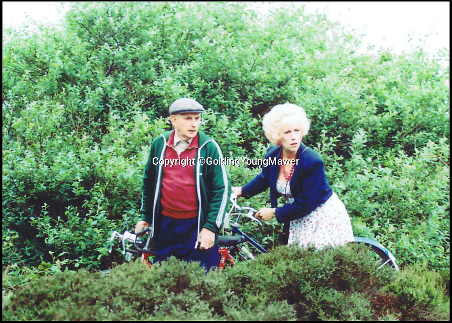 BNPS.co.uk (01202 558833)<br /> Pic: GoldingYoungMawer/BNPS<br /> <br /> ***Please Use Full Byline***<br /> <br /> The bike featuring in Last of the Summer Wine.<br /> <br /> <br /> This rusty old bicycle has gone on the market for a whopping 800 pounds - because it was the one ridden by maneater Marina in cult comedy Last of the Summer Wine.<br /> <br /> The busty blonde's jaunts on the blue bike - in which she would escape into the countryside to frolic with married lover Howard - were a recurring part of the legendary series which ran for 37 years.<br /> <br /> Jean Fergusson, who played Marina, was given the bike as a gift by producers in the mid 90s but is now selling it because she had recently moved to London and it doesn't fit in her new home.<br /> <br /> The bike, made by Chinese brand Phoenix, is being sold by Golding, Young and Mawer auctioneers in Lincoln, Lincs.