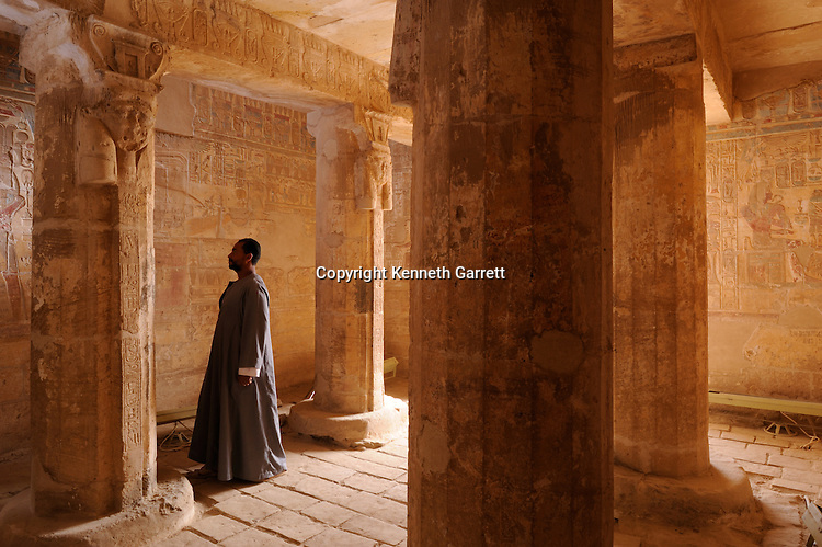 Zahi Hawass Secret Egypt Travel Guide; Egypt; archaeology; El Kab, New Kingdom, Temple of Amenhotep III, repository chapel for barque, associated with goddesses Nekhbet and Hathor